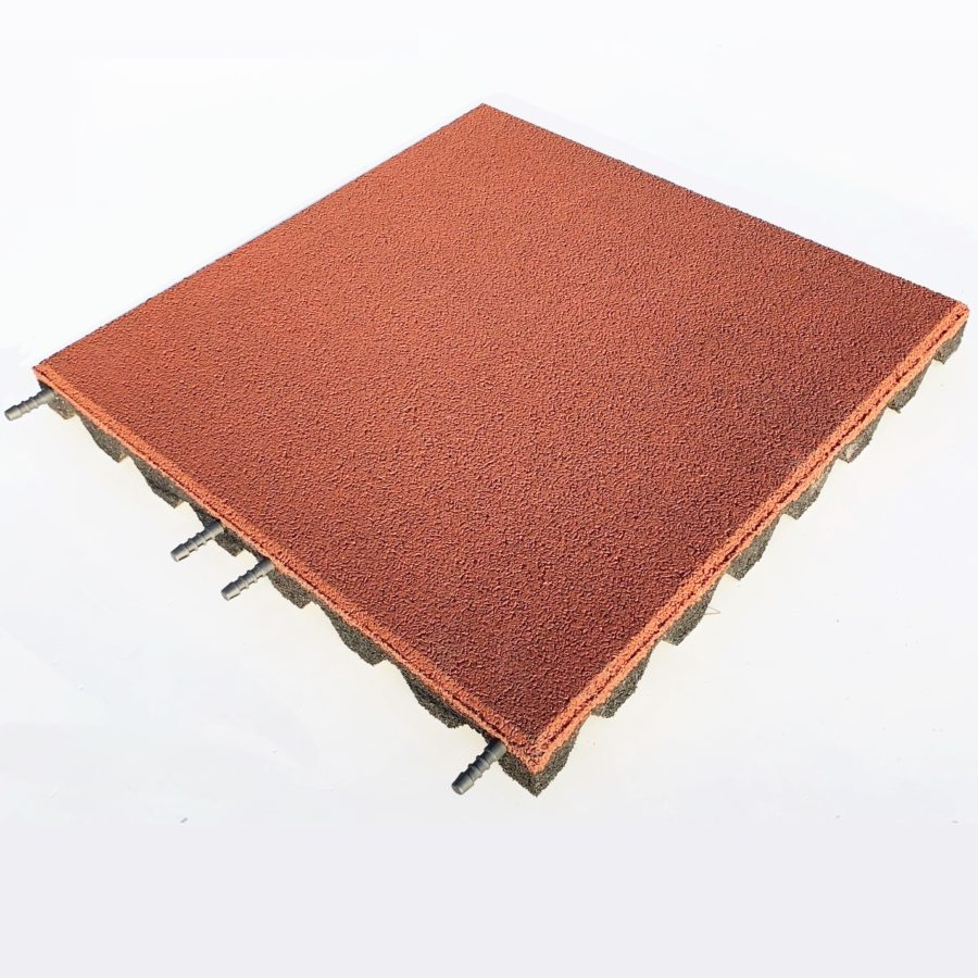 Red EPDM Coated Rubber Tile